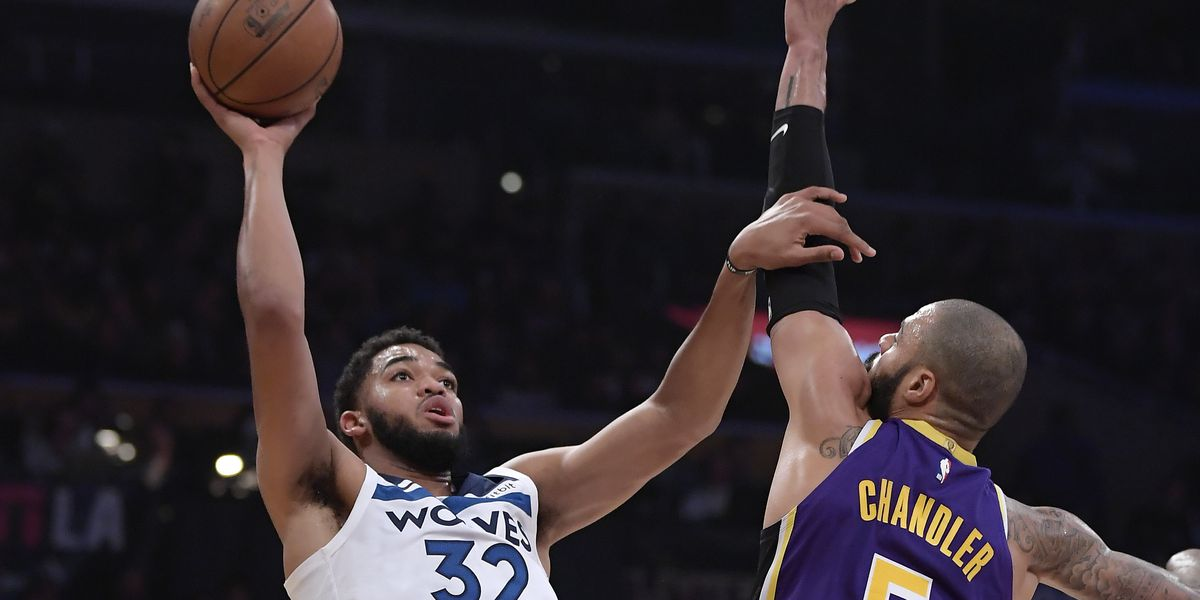 Chandler has impactful debut as Lakers beat Wolves 114-110