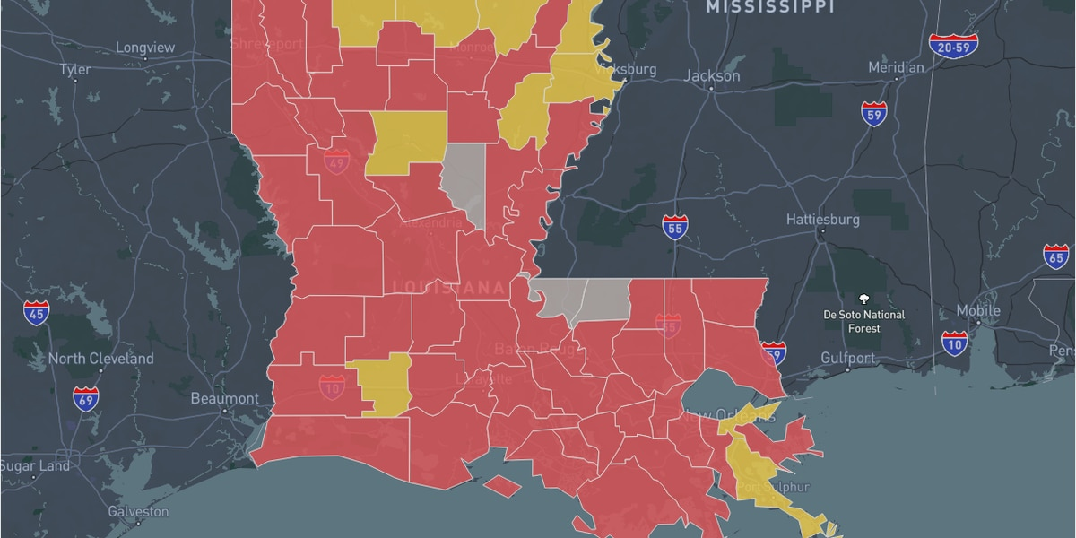 51 parishes classified in 'Red Zone' in latest White House Coronavirus Task Force report