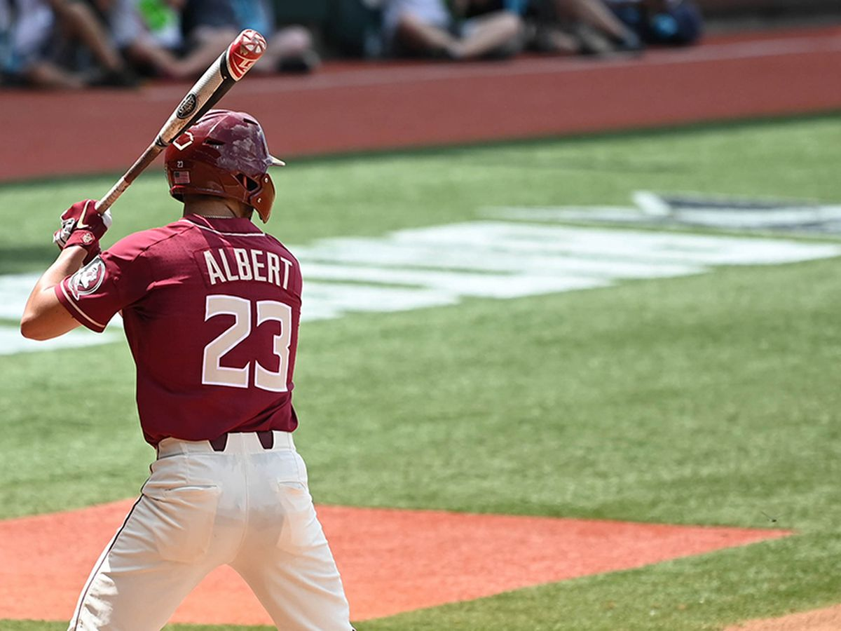Albert powers FSU past LSU 6-4 to open NCAA super regional