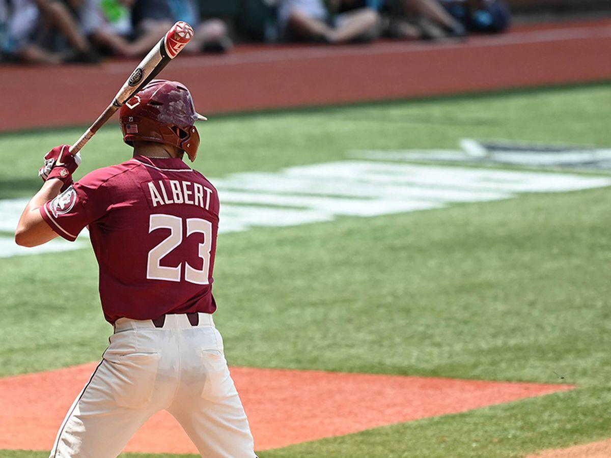 Albert powers FSU past LSU 6-4 to open NCAA super regional