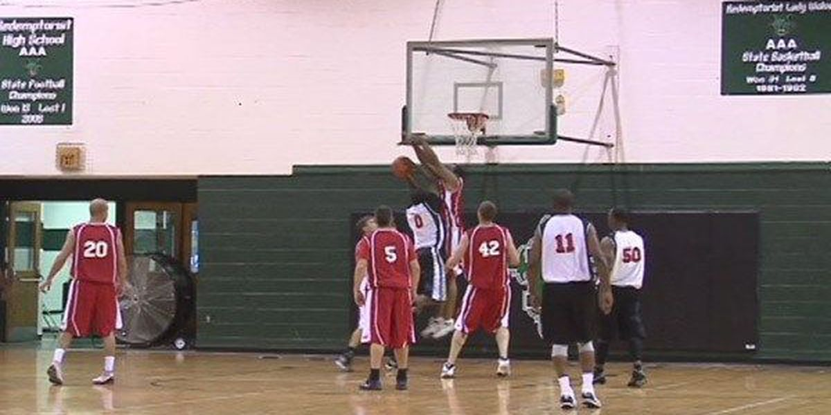 BRPD and BRFD face off in annual charity basketball game