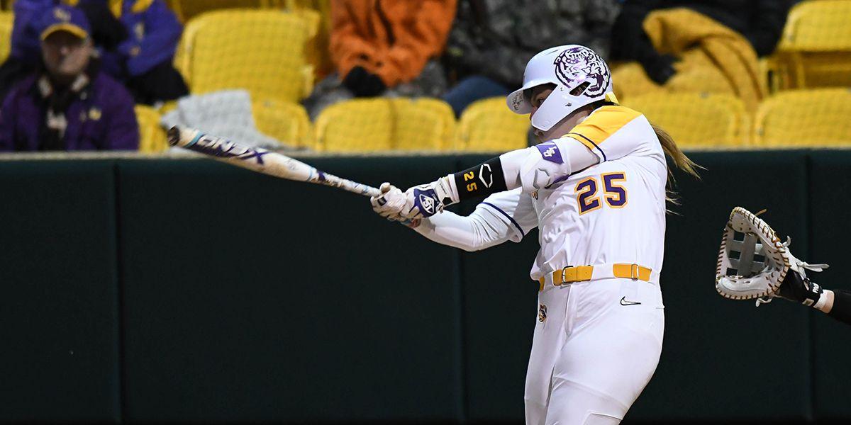 No. 11 LSU softball wins season opener over Central Arkansas
