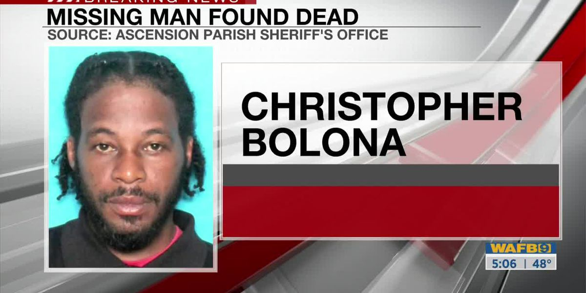 Missing man's body found in Mississippi River