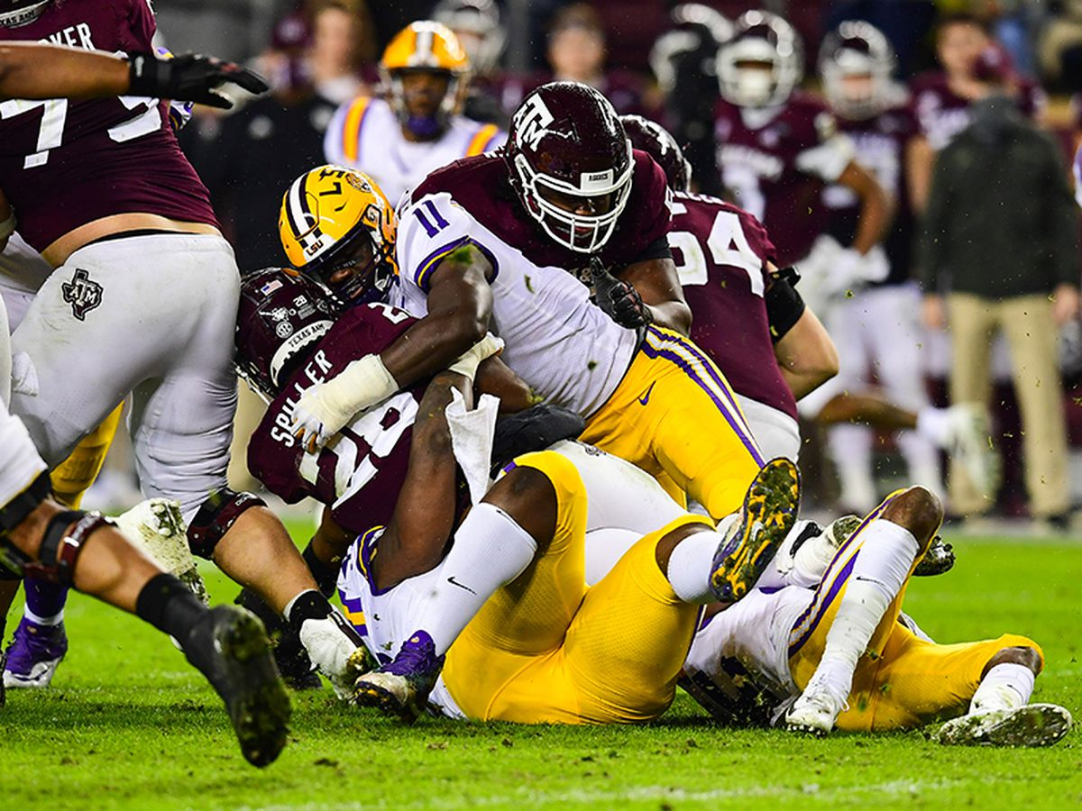 LSU falls 20-7 at No. 5 Texas A&M