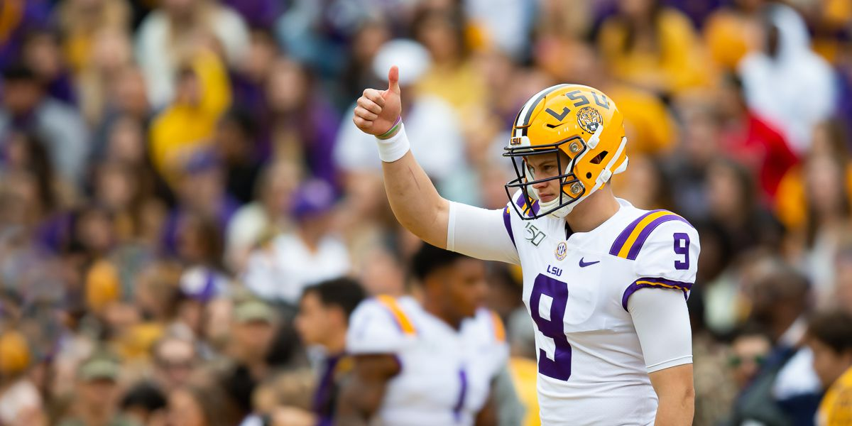 LSU moves up to No. 1 in latest College Football Playoff rankings