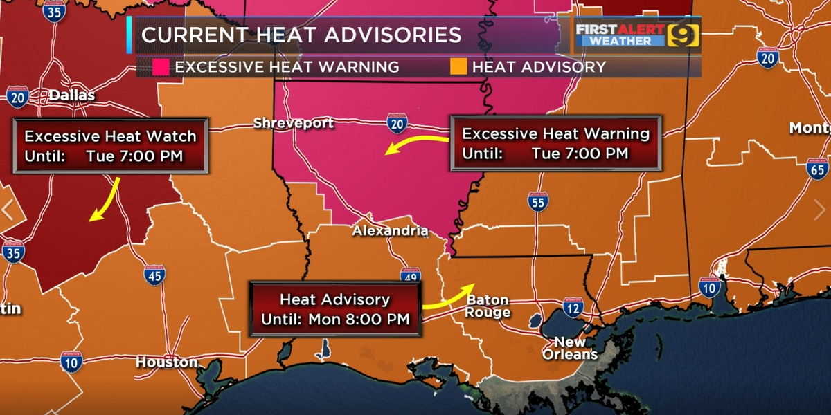 FIRST ALERT FORECAST: Trend of Heat Advisories continues