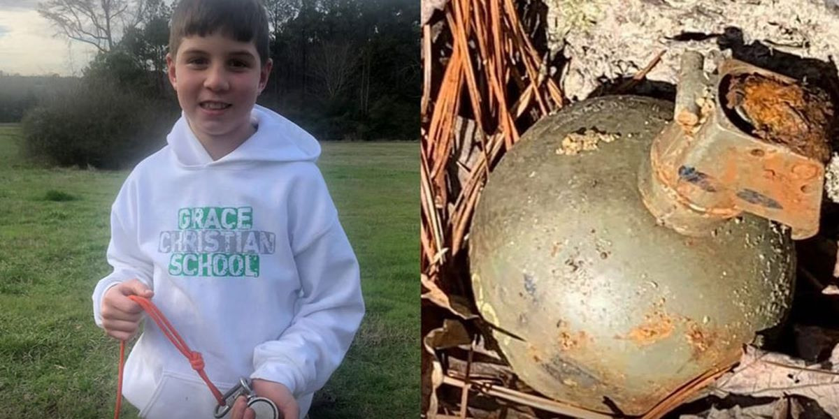 A boy caught a live grenade while fishing in a North Carolina creek - and lived to tell the tale