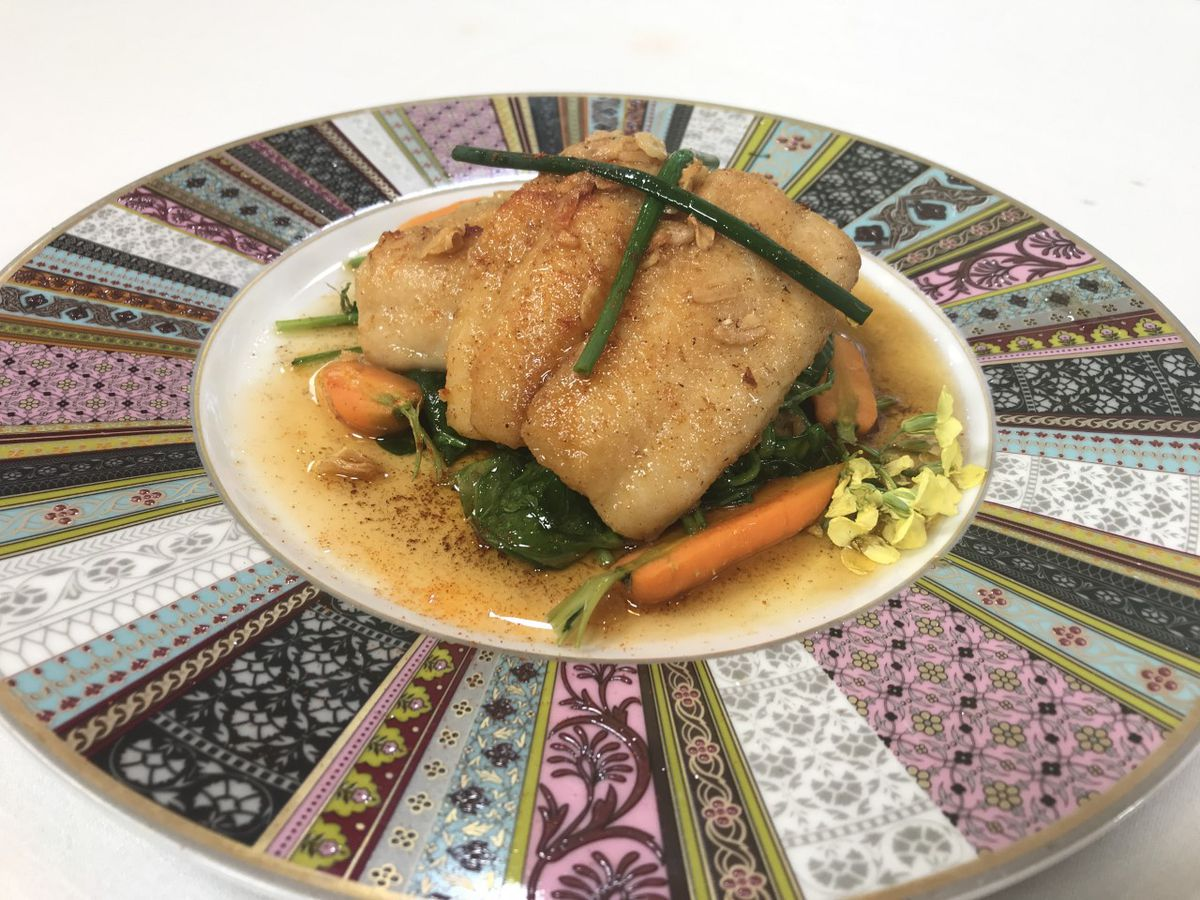 Pan-Sautéed Fillet of Trout with Brown Butter Sauce