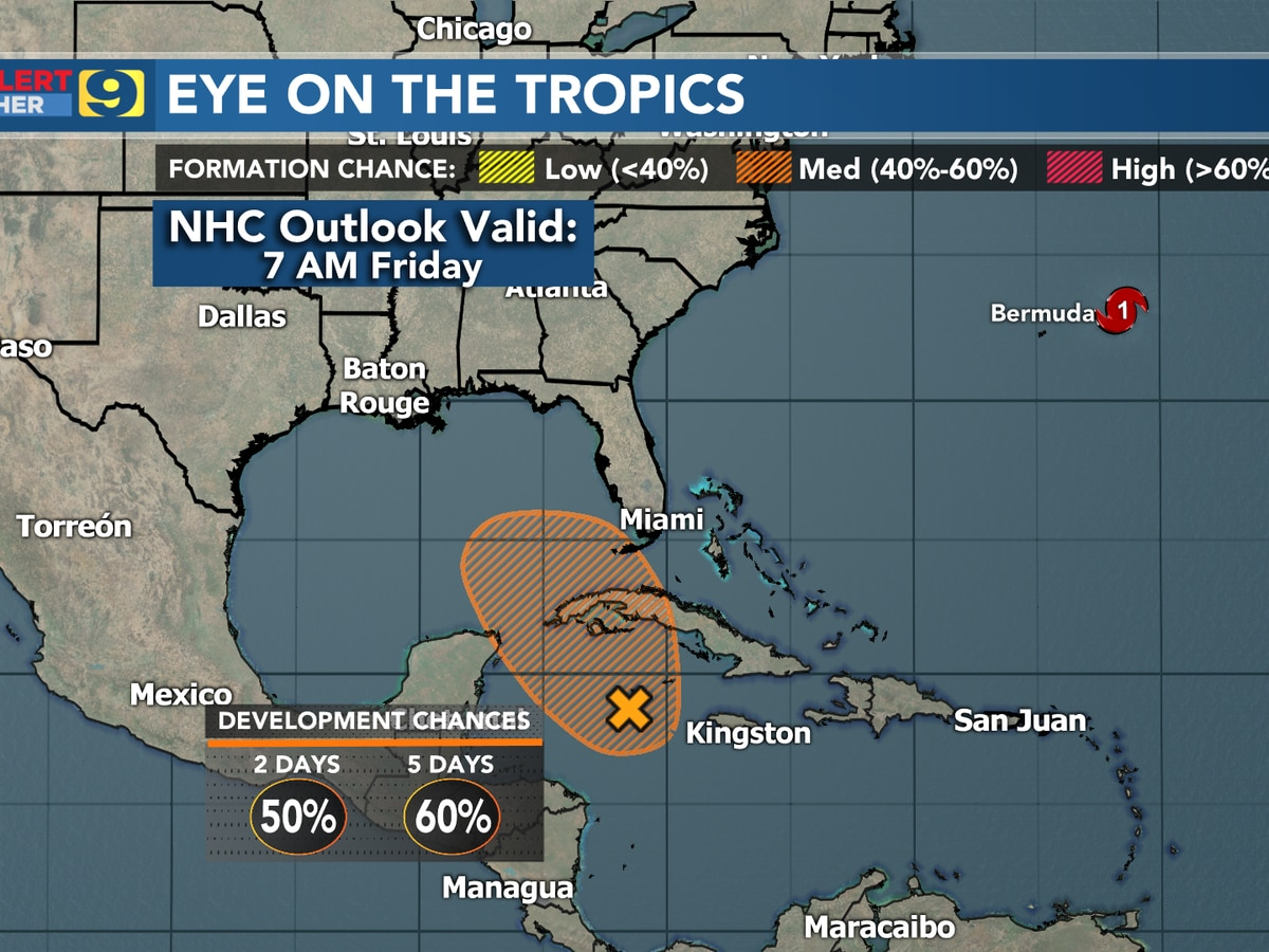 Good rain chances today; watching the tropics yet again