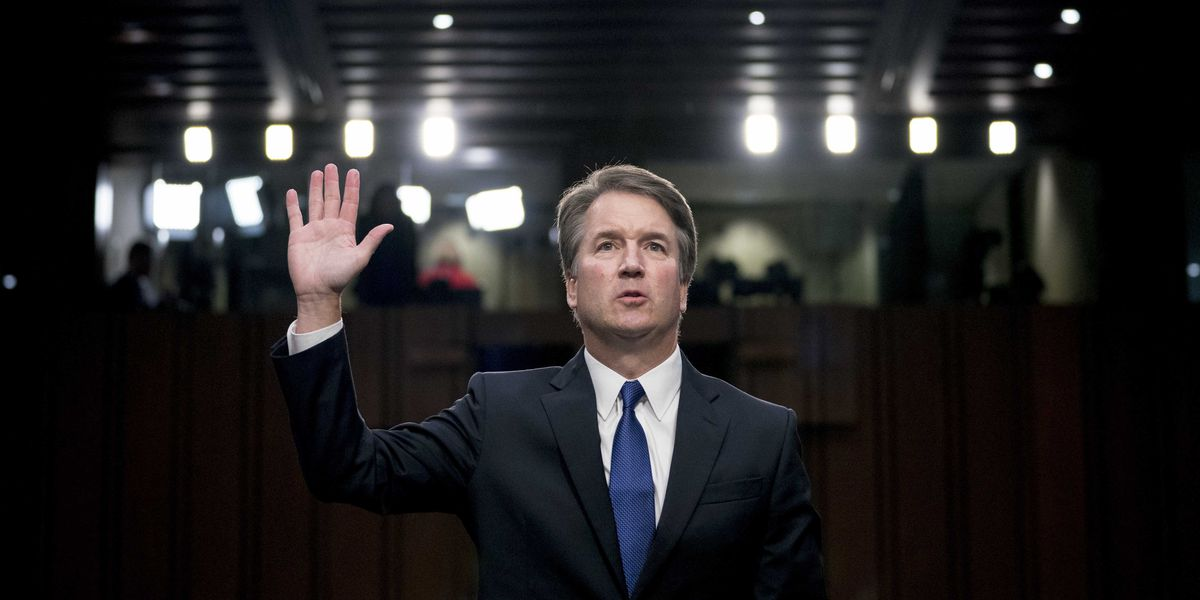 Beers and cheers as Trump, Republicans celebrate Kavanaugh's rise to Supreme Court
