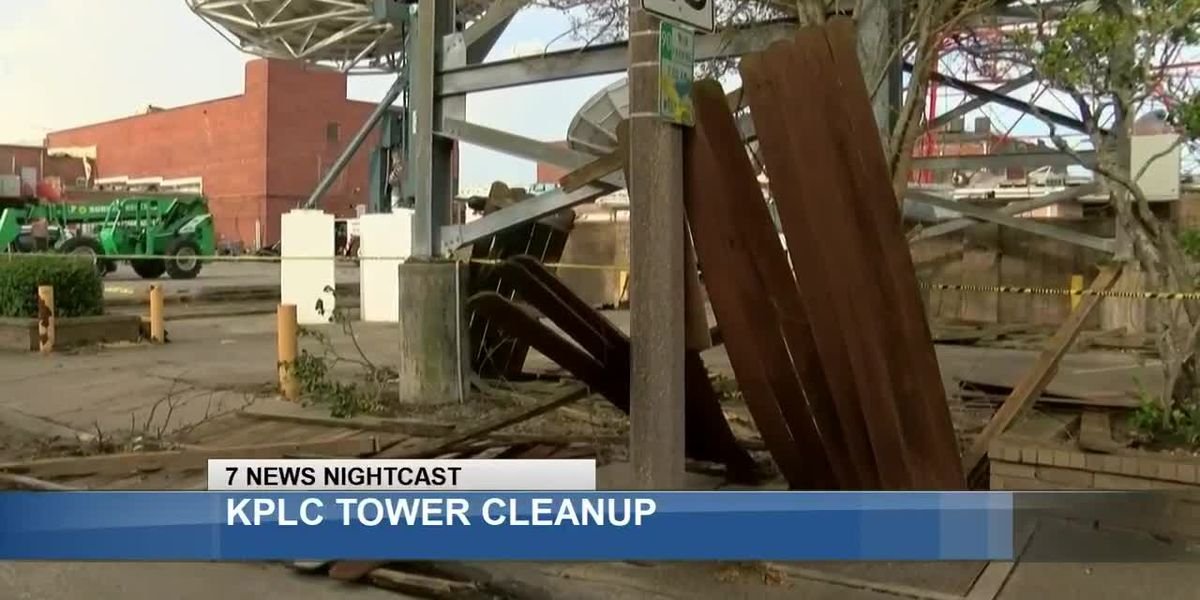 Crews at the ready to take down crumpled tower over KPLC