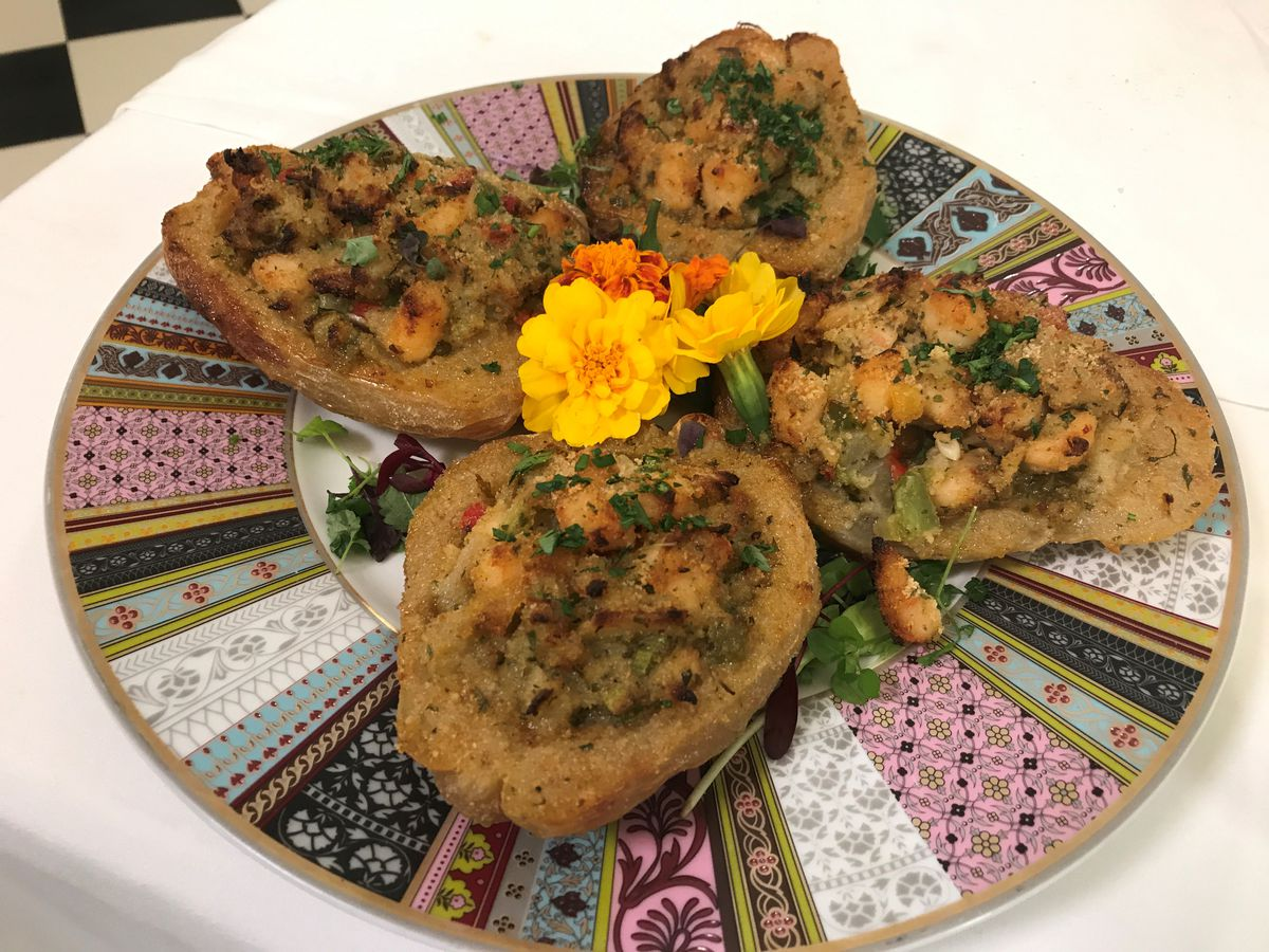 Mirliton and shrimp casserole