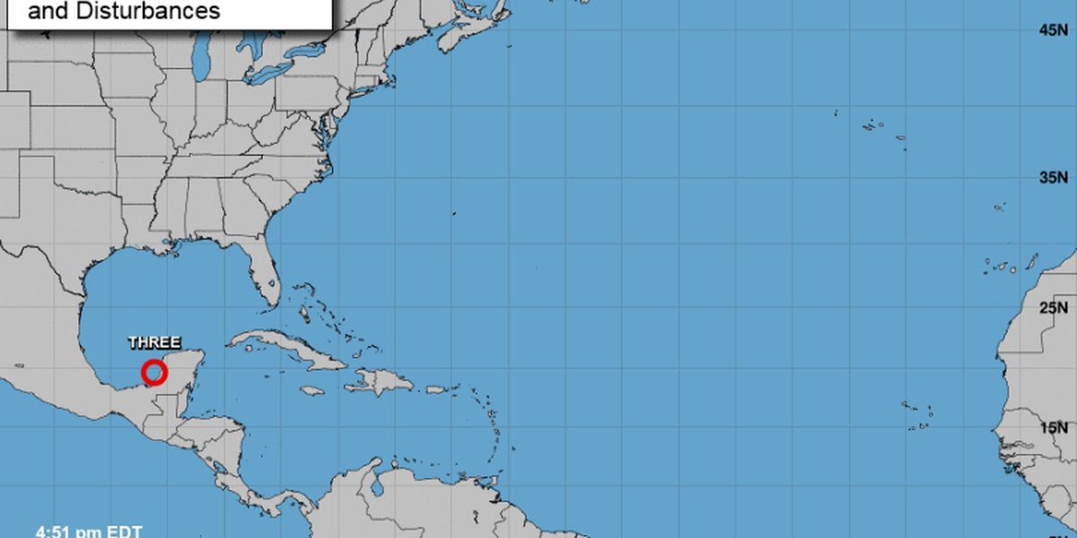 Tropical Depression #3 forms in Gulf of Mexico