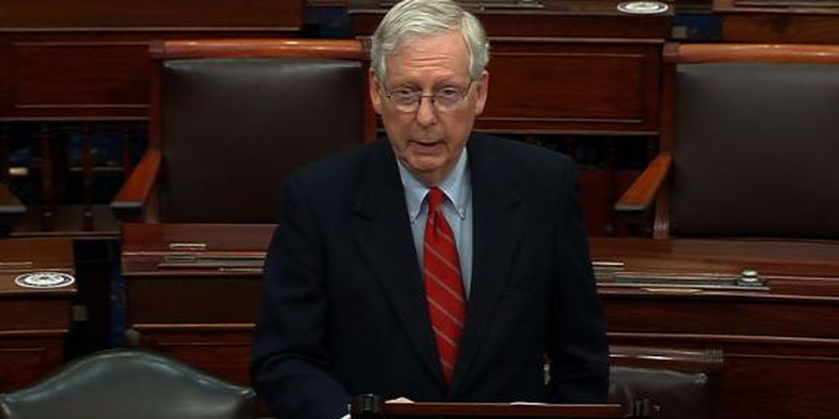 Senate GOP leader says he's revising his COVID relief plan