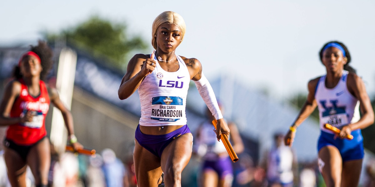 LSU track and field star Sha'Carri Richardson announces she will be going pro