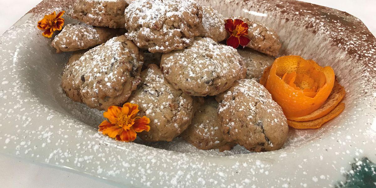 Chocolate chunk, orange and pecan cookies