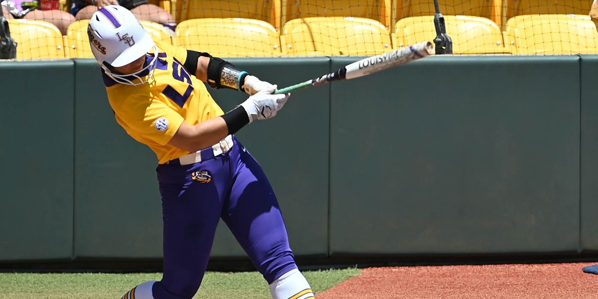 No. 9 LSU softball gets swept by No. 4 Alabama