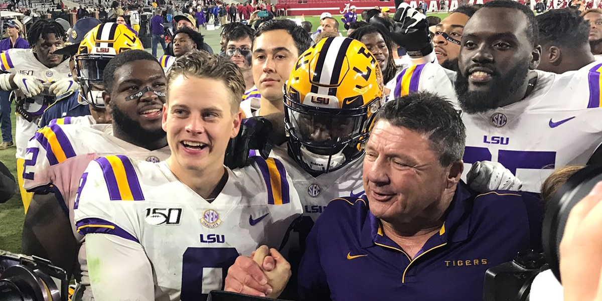 Tigers welcomed back to Baton Rouge with cheers, applause after win over Alabama