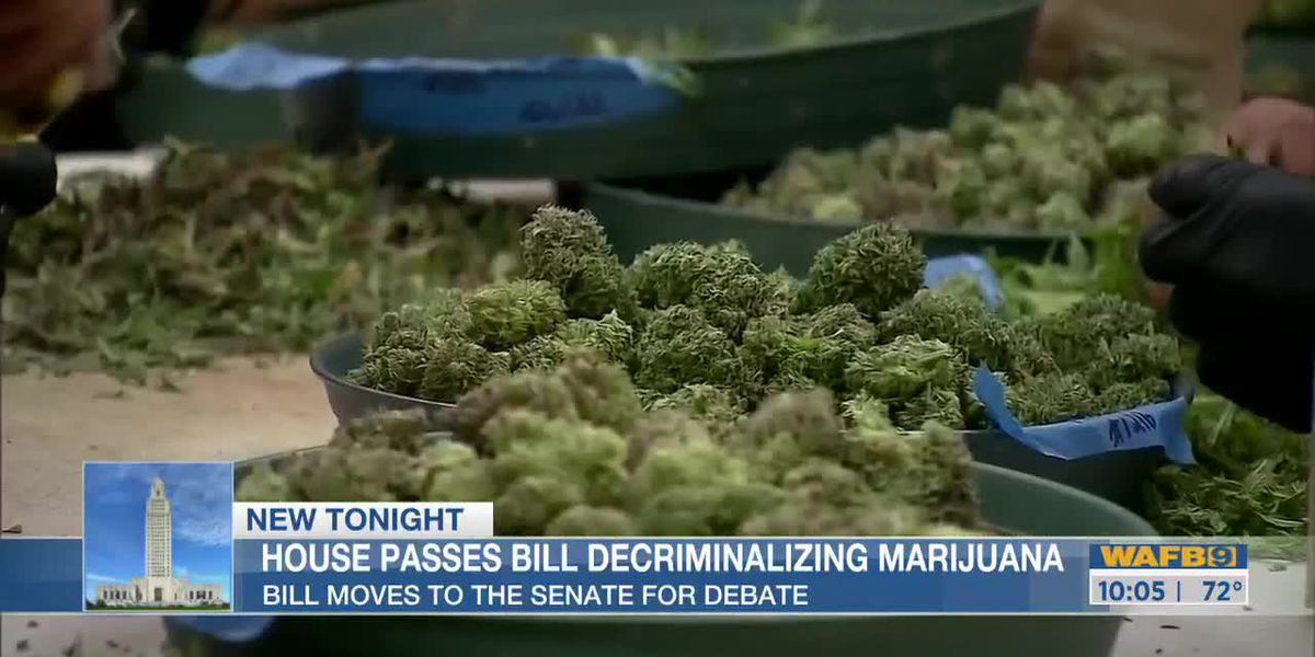 La. House passes bill proposing to decriminalize marijuana