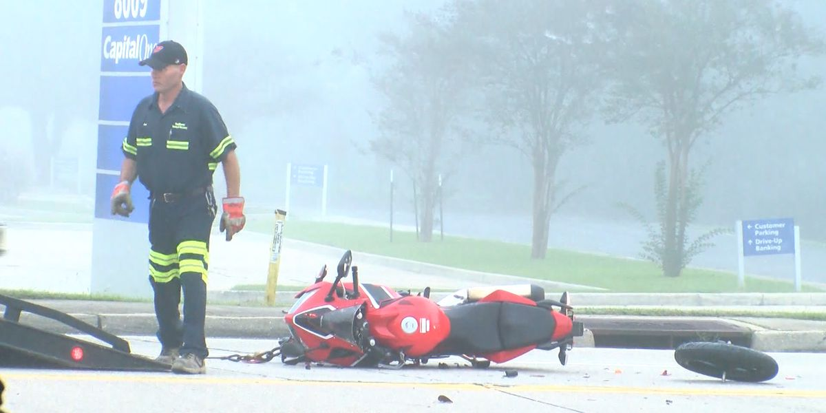 Crash sends motorcyclist to hospital in very serious condition
