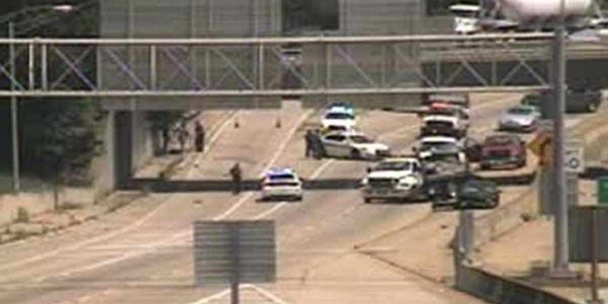 All lanes open on I-110 South before Laurel St. after crash