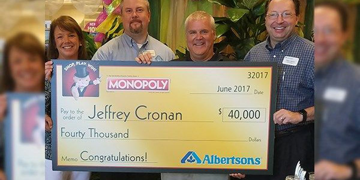 Two Baton Rouge men win cash in Albertsons Monopoly sweepstakes