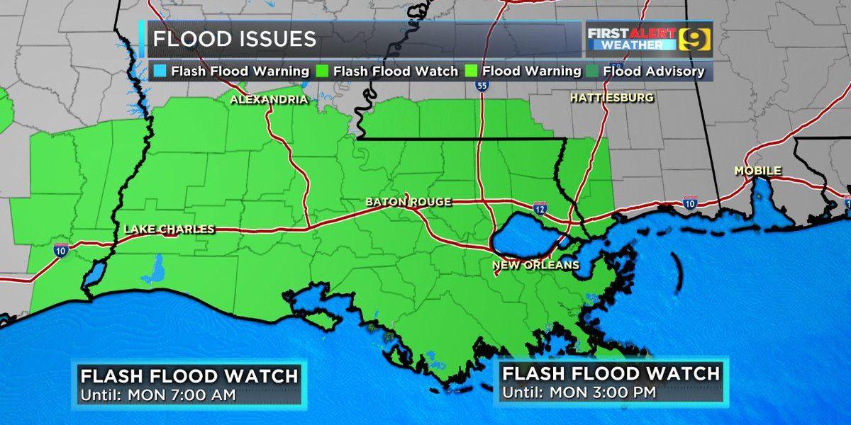 FIRST ALERT WEATHER: Baton Rouge under tornado watch until 2am.