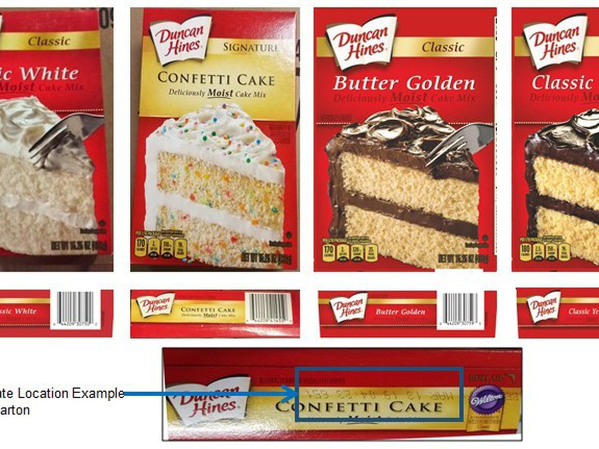 Duncan Hines cake mixes recalled