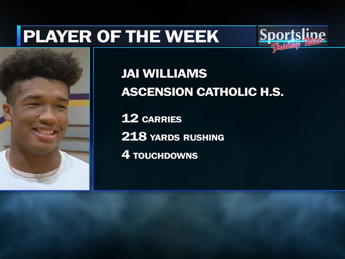 Sportsline Player of the Week: Ascension Catholic RB Jai Williams (Week 2)