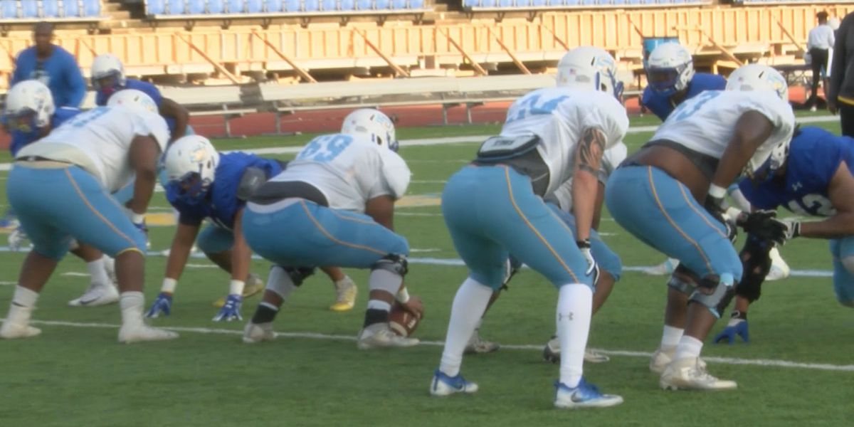 Southern defense works on stopping the run during spring practices