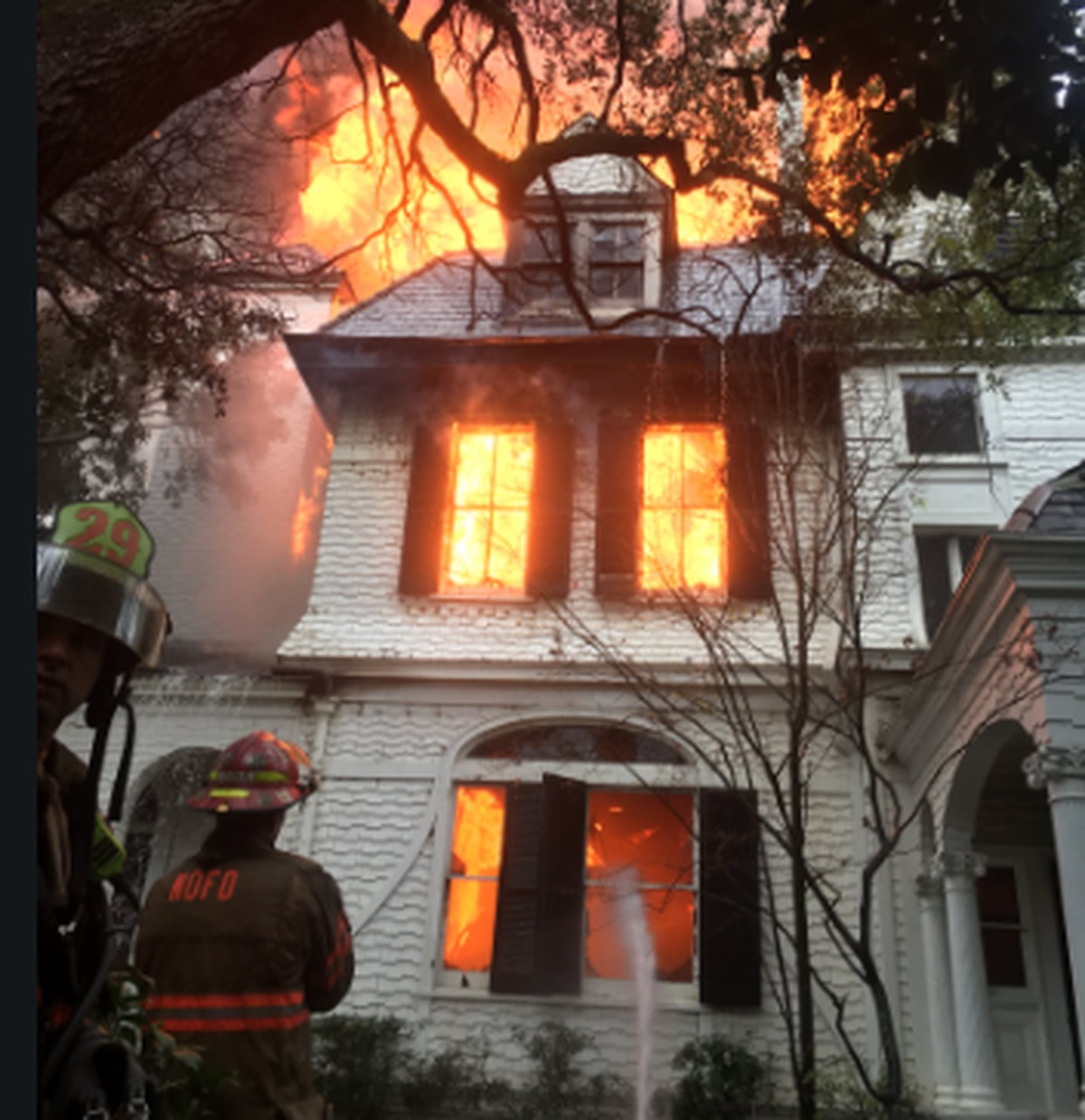 Massive Mansion Fire Tears Through Historic Home On St