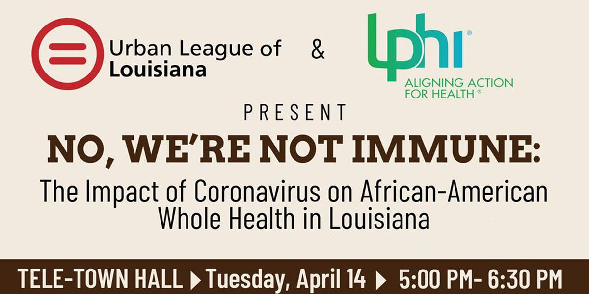 'No, We're Not Immune' tele-town hall to discuss healthcare disparities in African American communities