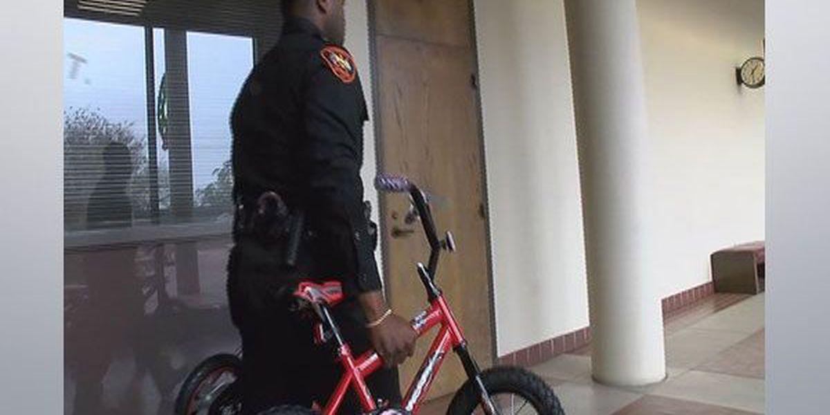 Iberville Parish Sheriff's office play Santa