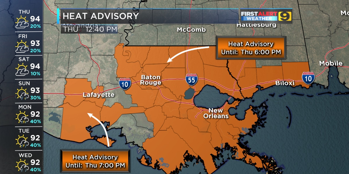 Heat Advisory issued, more expected as 'feels like' temps hit triple digits