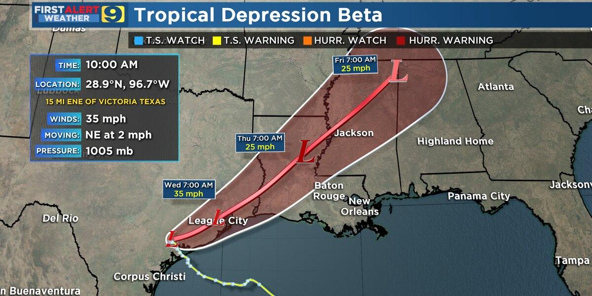 FIRST ALERT FORECAST: Good rain chances continue, but flood threat from Beta diminishing