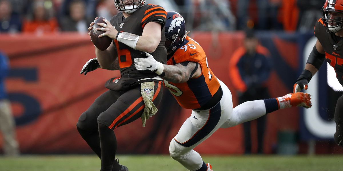 Allen leads Broncos past Browns 24-19 in first NFL start