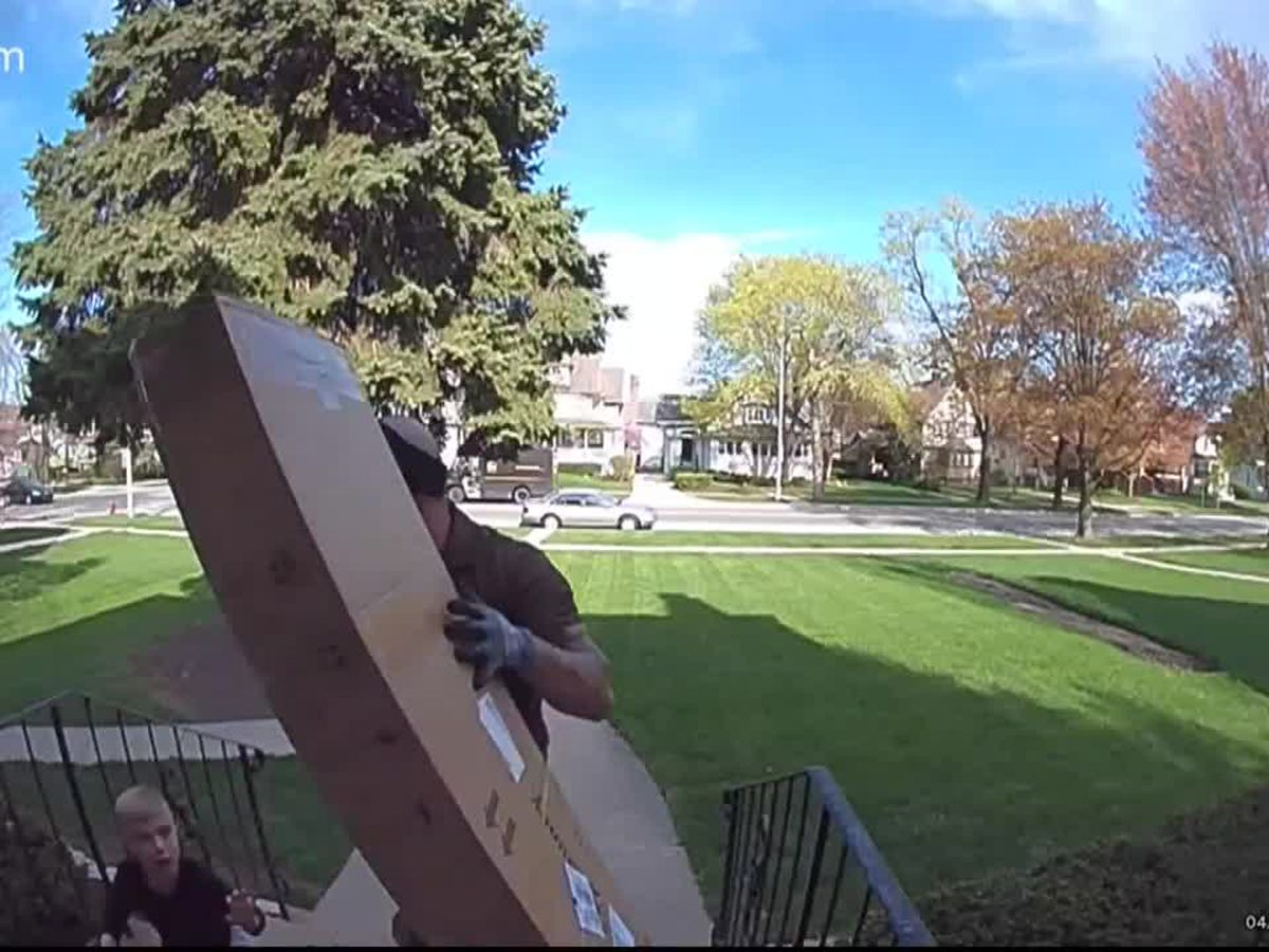 CAUGHT ON CAMERA: UPS driver saves child trapped underneath heavy package