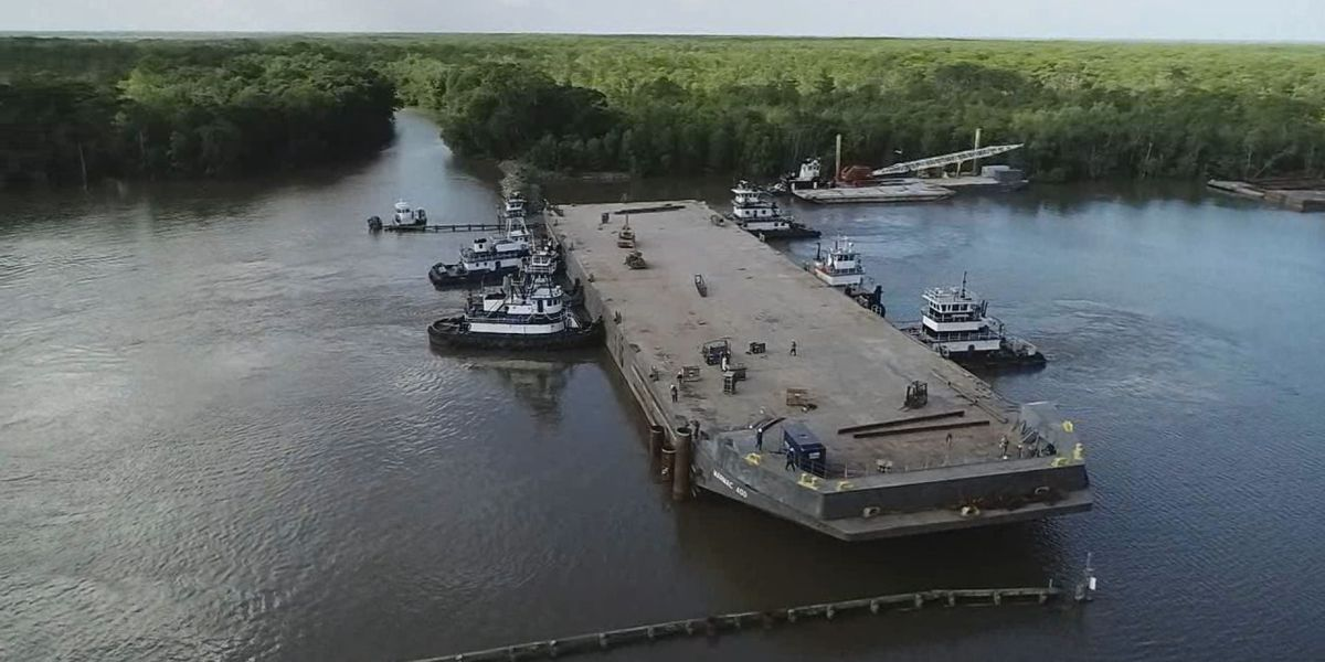 Bayou Chene barge has arrived, will be sunk ahead of schedule