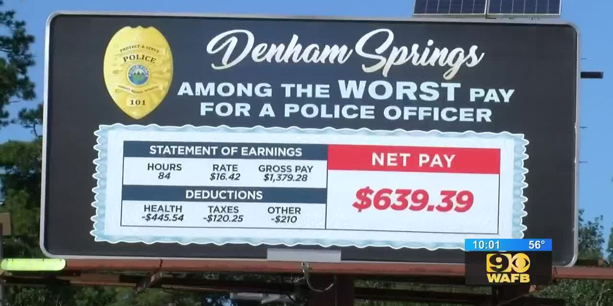 Billboard looks to spark conversation about Denham Springs officer pay