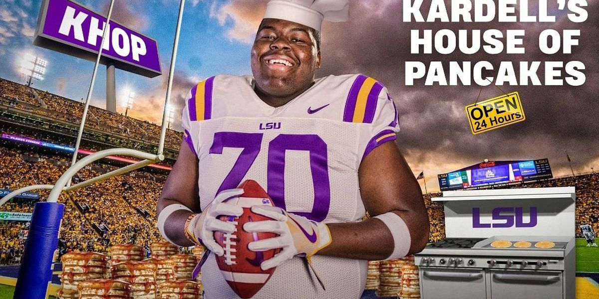 5-star LSU OL commit opens house of pancakes of his own, sort of
