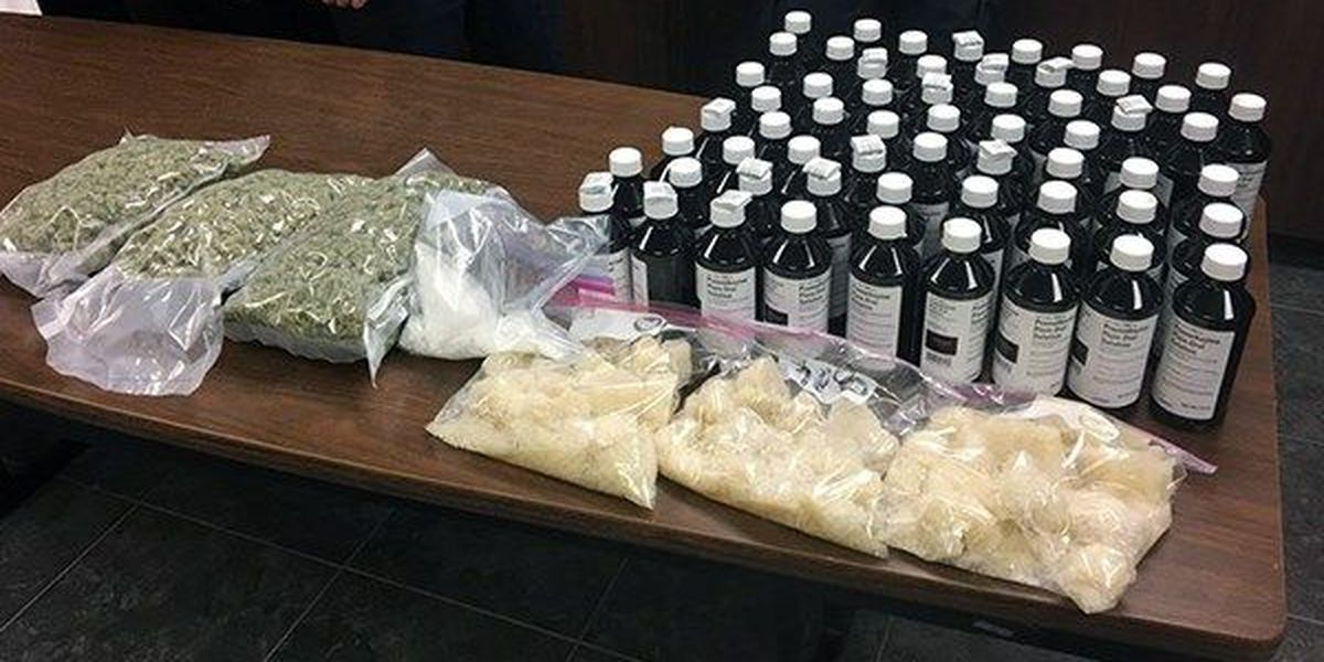 Lafayette officials seize nearly $1M worth of meth, marijuana, and 'purple drink'