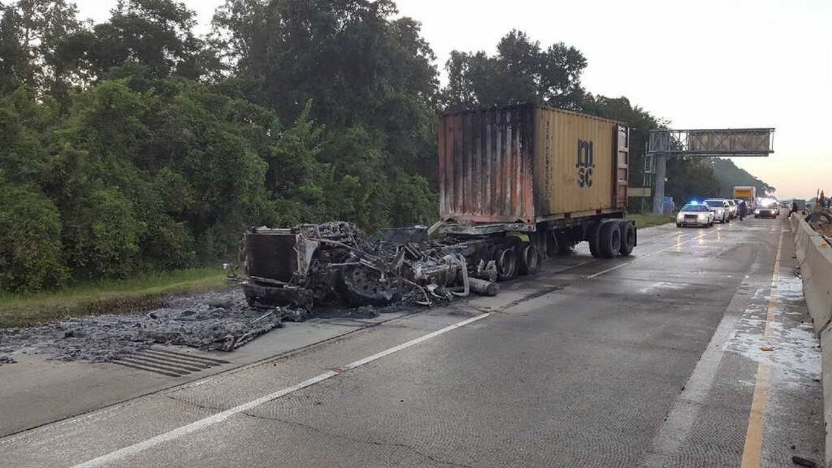 Suspected drunk truck driver arrested following fiery I-10 crash