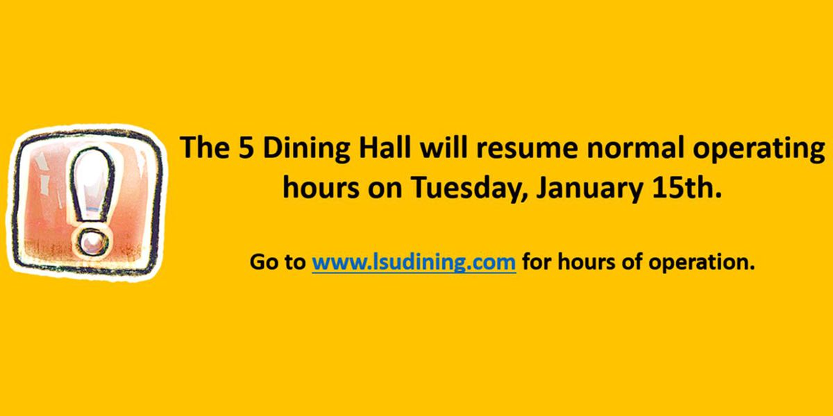 LSU experieces issues with pipes; closed dining hall expected to reopen
