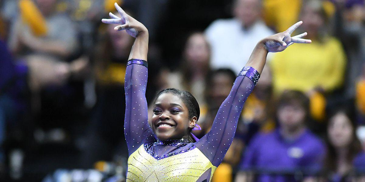 LSU gymnast Kiya Johnson crowned SEC Freshman of the Week