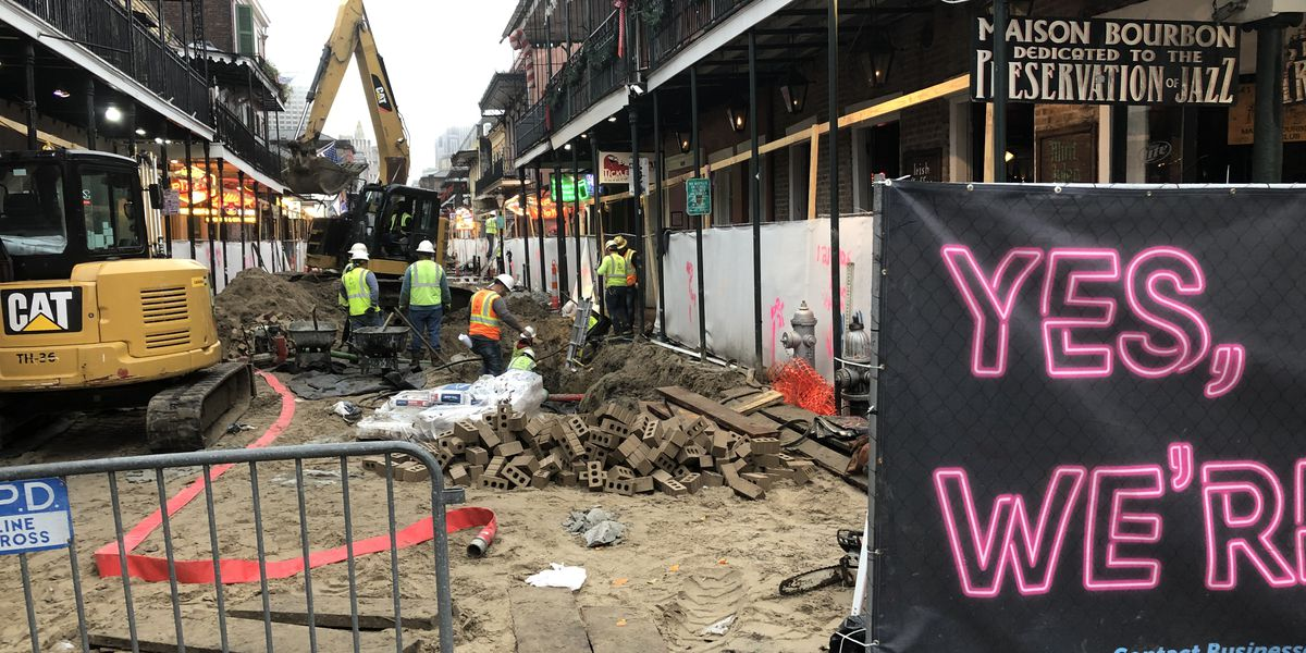 Work resumes on phase two of Bourbon Street improvement project