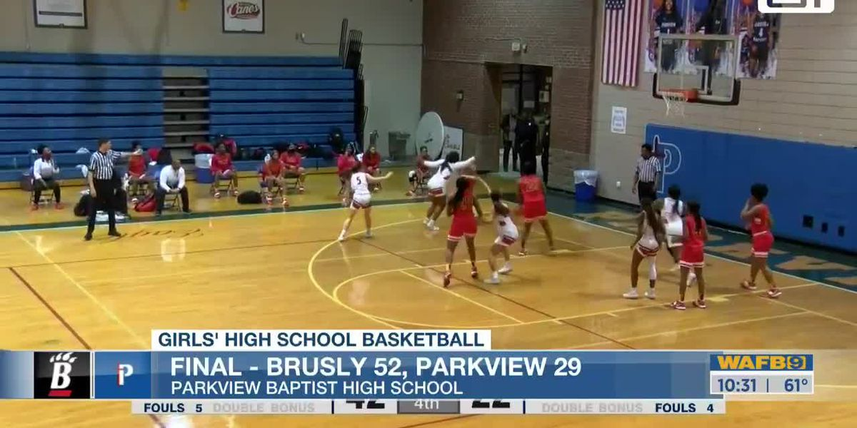 Brusly wins big over Parkview Baptist in girls' basketball