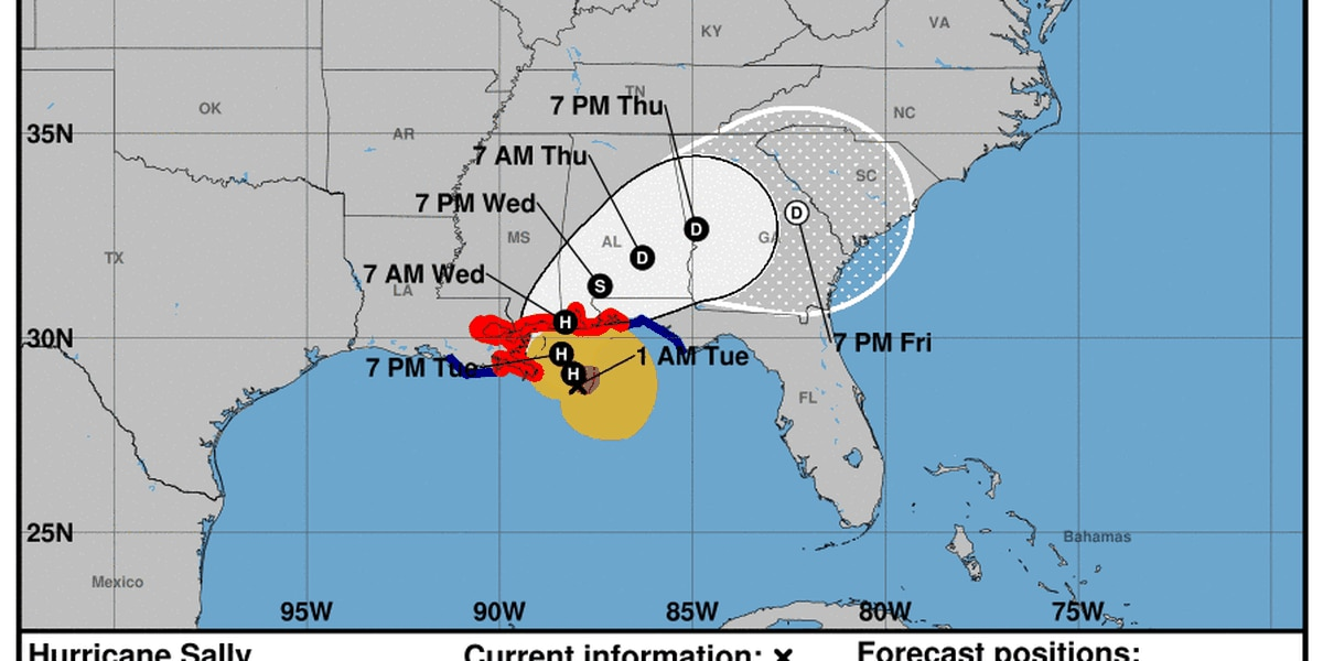 1 a.m. NHC advisory for Hurricane Sally
