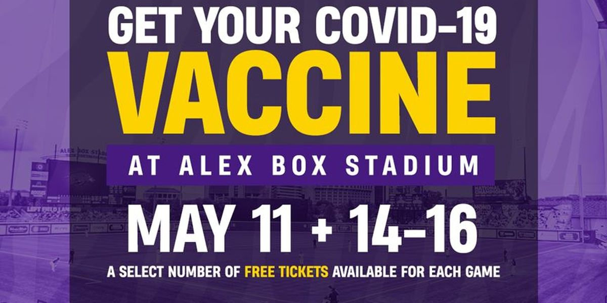 If you get a COVID-19 vaccine at Alex Box Stadium, you can attend an LSU baseball home game free: here's how