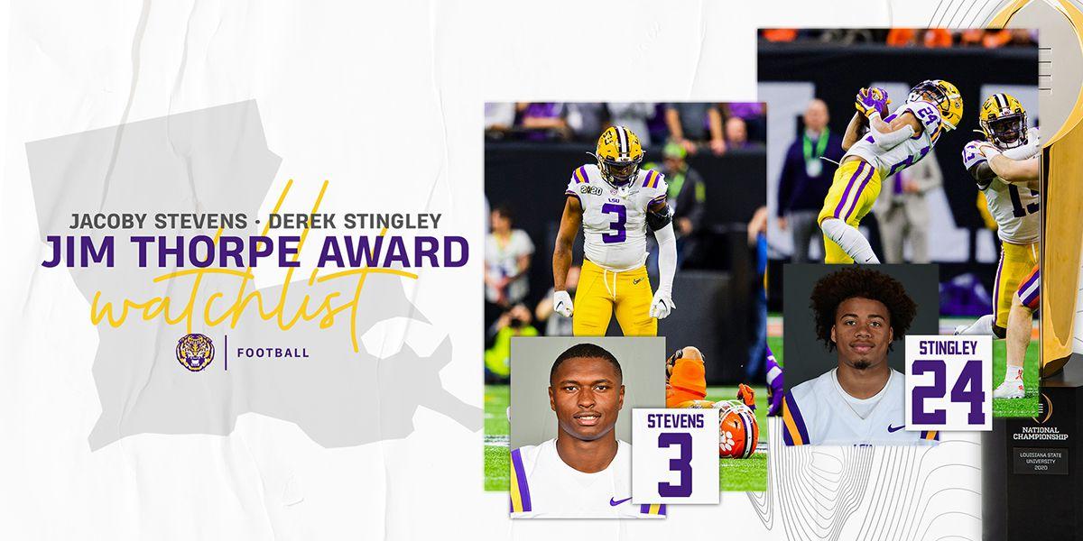 LSU's Stevens, Stingley named to Thorpe Award watch list
