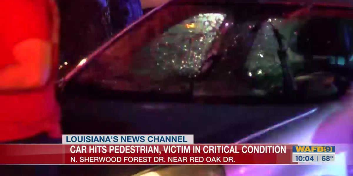 Victim in critical condition after being hit by car at N Sherwood Forest Drive, Red Oak Drive